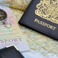 bigstock-British-Passport-And-Map